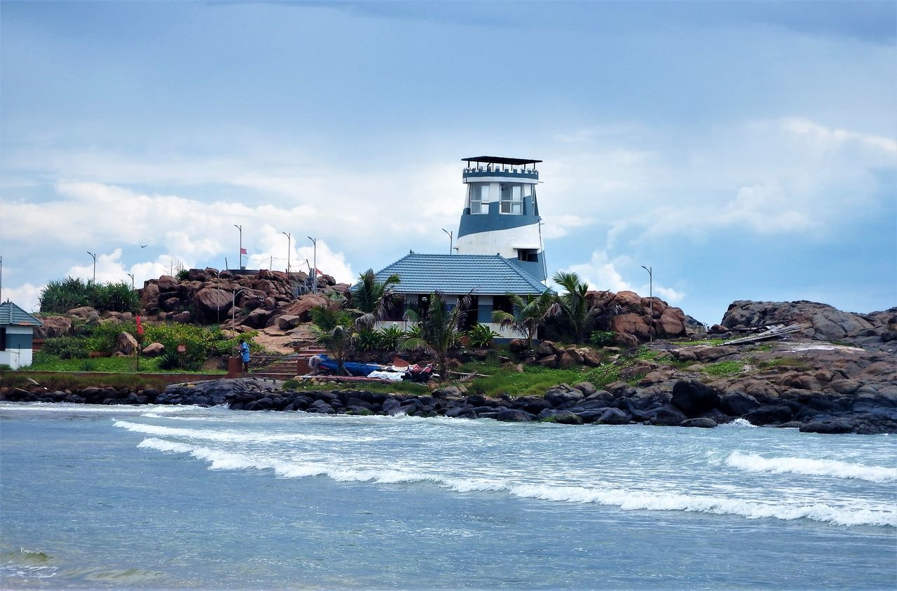 Kerala, India Nature Scenics Beach Sky Water Sea Horizon Over Water Rocks In Water Tide Beauty In Nature Outdoors Travel Destinations