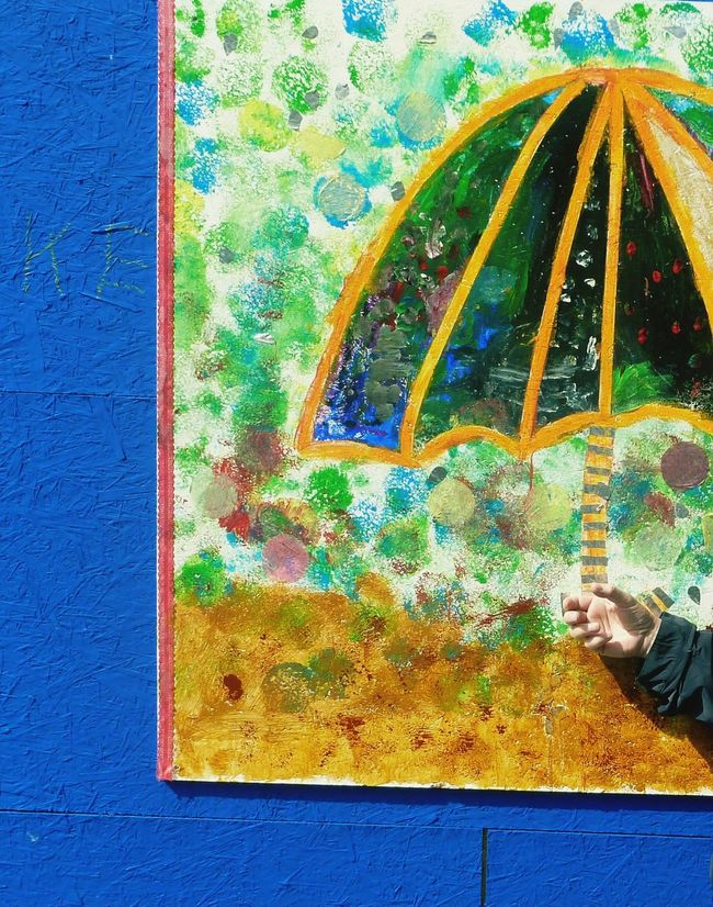 under my umbrella, brella, brella... Art, Drawing, Creativity ArtWork Street Photography Streetart Hello Sunshine Umbrella Umbrellas Umbrella☂☂ Colour Colourful Life Colourful View Colourfull Singing In The Rain Colourfull Moment From My Point Of View Check This Out! Paintings On The Wall Colour Of Life TakeoverContrast