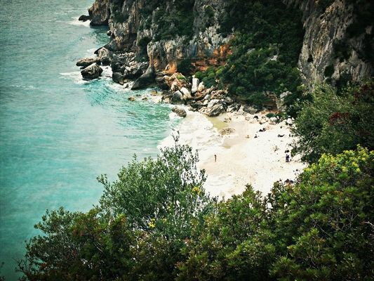 Coastline at cala gonone by Laura Blu