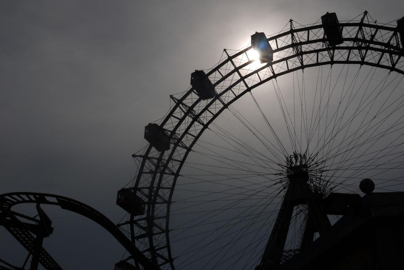 Vienna Prater Riesenrad Sun