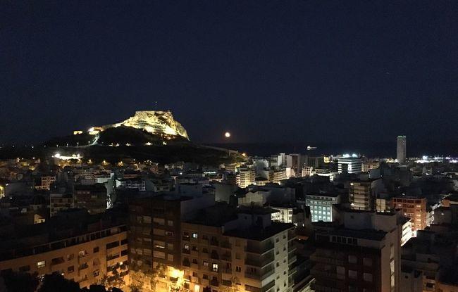 Alicante Night Castle Santa Barbara Night Mediterranean Night Vision Photo Collection Eyeem Photography Enjoying The Natural 2016 Fotographie Night 2016 EyeEm Awards Full Moon 🌕