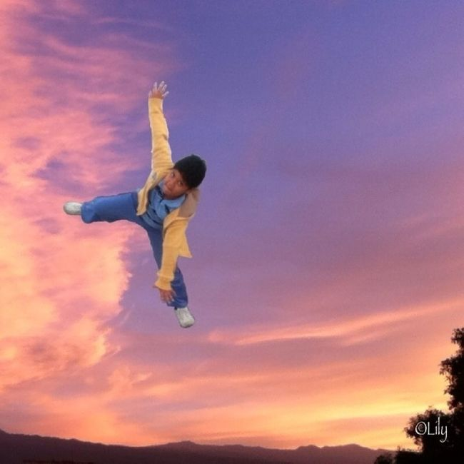 Hi mom, I can fly! Lol...