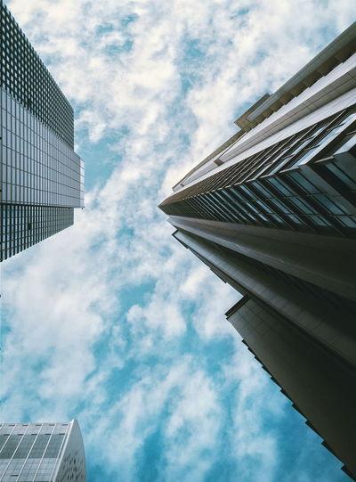 Poles Architecture Minimalism Skyscraper Cloud - Sky Sky Dubai Low Angle View