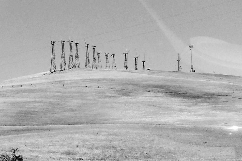 Altamont Pass Monochrome Black And White Filmitation