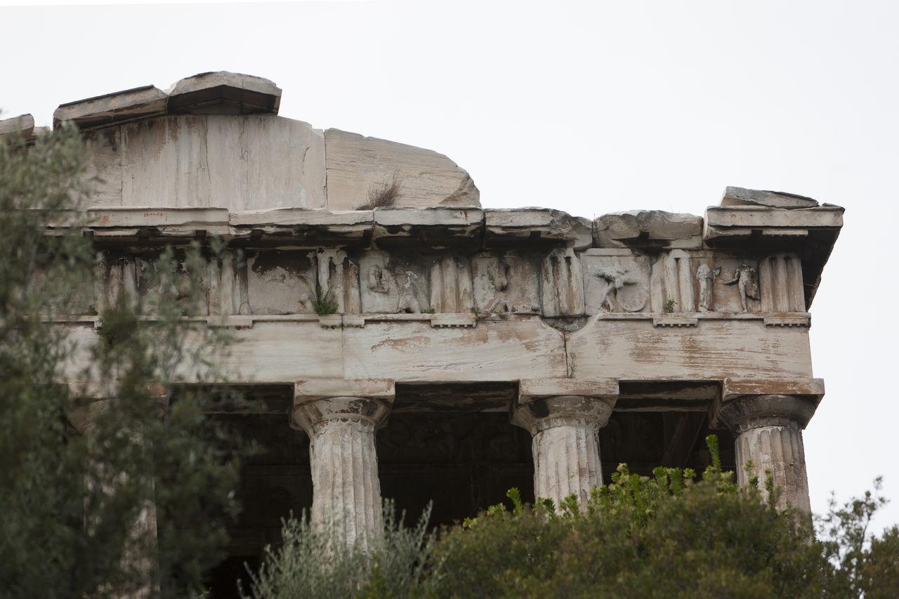 Ancient Civilization Architecture Art Famous Place Greece Old Sculpture Temple Of Hephaestus Thiseio