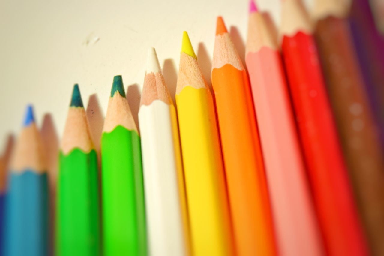 Multi Colored Pencil Color Colored Colour Back To School Education Simple Simplicity Close-up Vignetting Macro Crafts Educational Study Student Simple Homework Beautiful