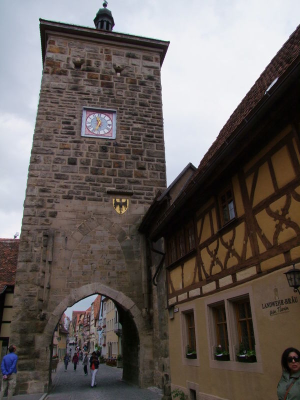 Siebesturm Tower (13th century) Arch Architecture Building Building Exterior Built Structure Clock Tower Cloudy Sky Composition Entrance Façade Full Frame Gateway Germany Incidental People Low Angle View Old Outdoor Photography Rothenberg Stone Tower Tourism Tourist Attraction  Tourist Destination Tower Town Travel Destinations