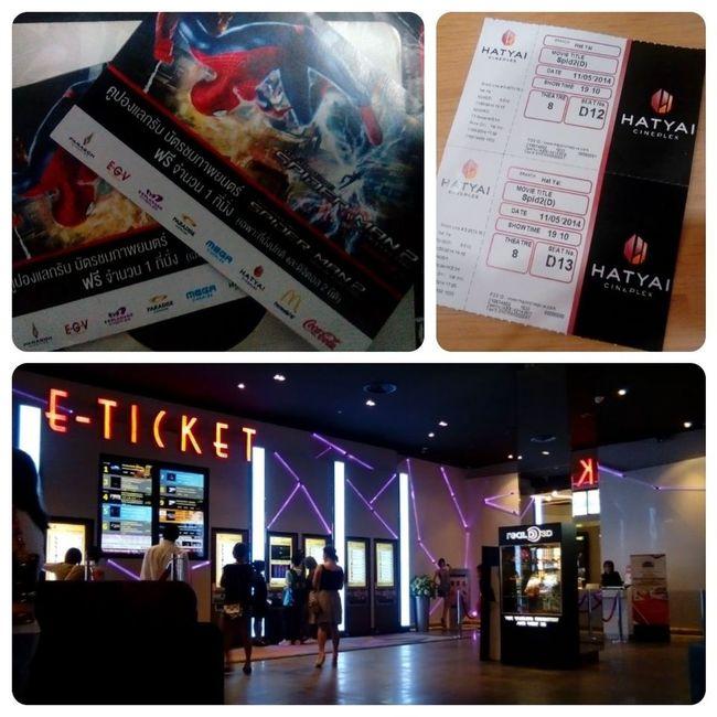 วันนี้ได้ตั๋วฟรีจาก McDonald ไปดู The Amazing Spider-Man 2 อีกรอบ The Amazing Spider-man 2 MOVIE Hatyai Cineplex McDonald