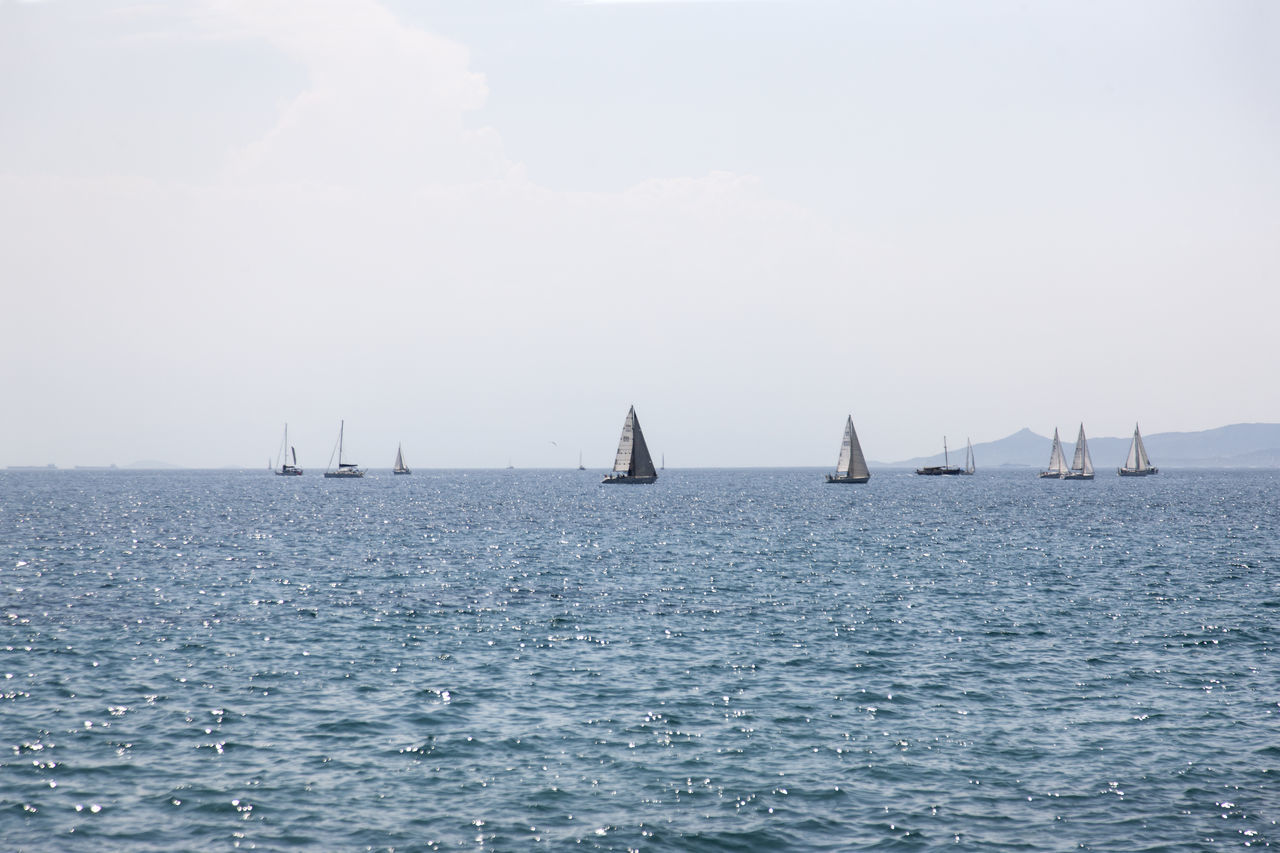 Beauty In Nature Day Greece Mast Nature Nautical Vessel No People Outdoors Sailboat Sailing Sailing Ship Scenics Sea Sky Tranquility Transportation Water Waterfront