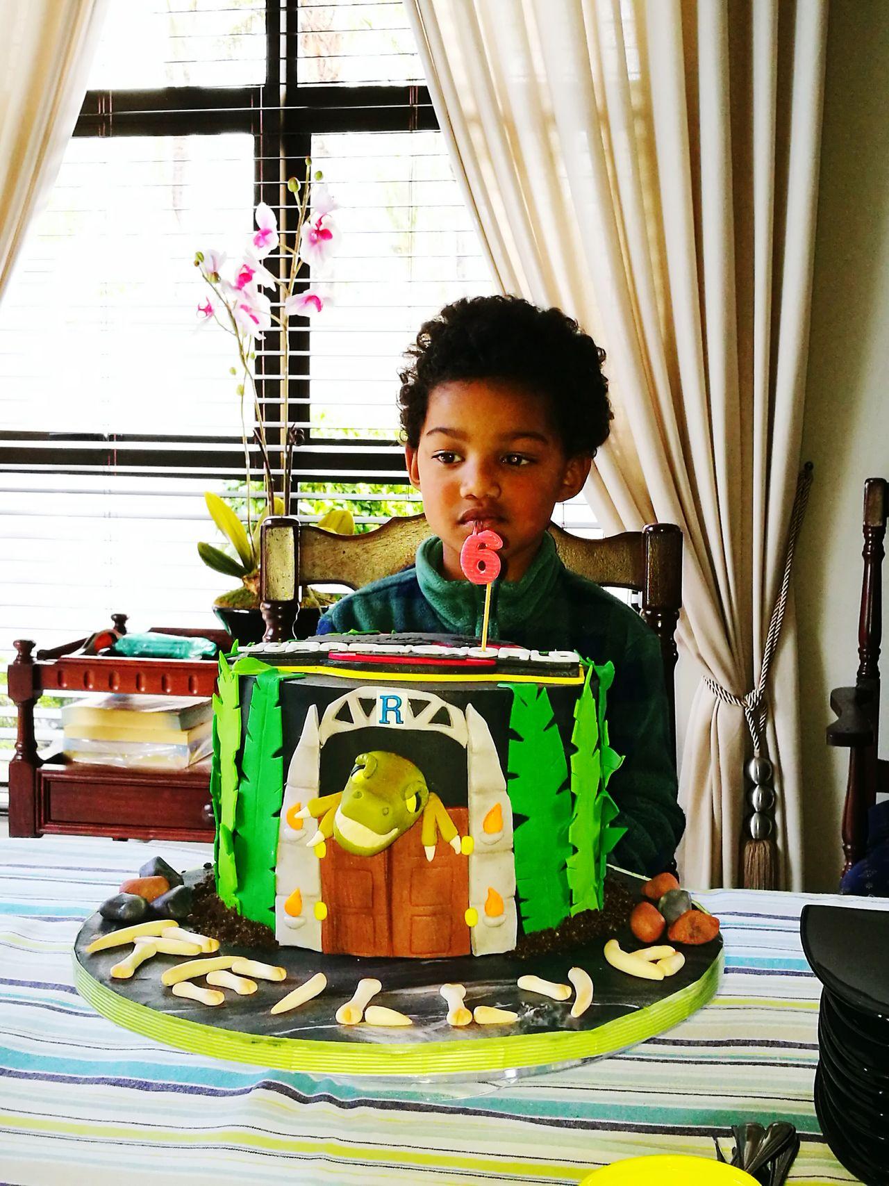 Jarassicpark Reilly6 MySON♥ Birthdayboy LovesDinosaurs Choclate Cake