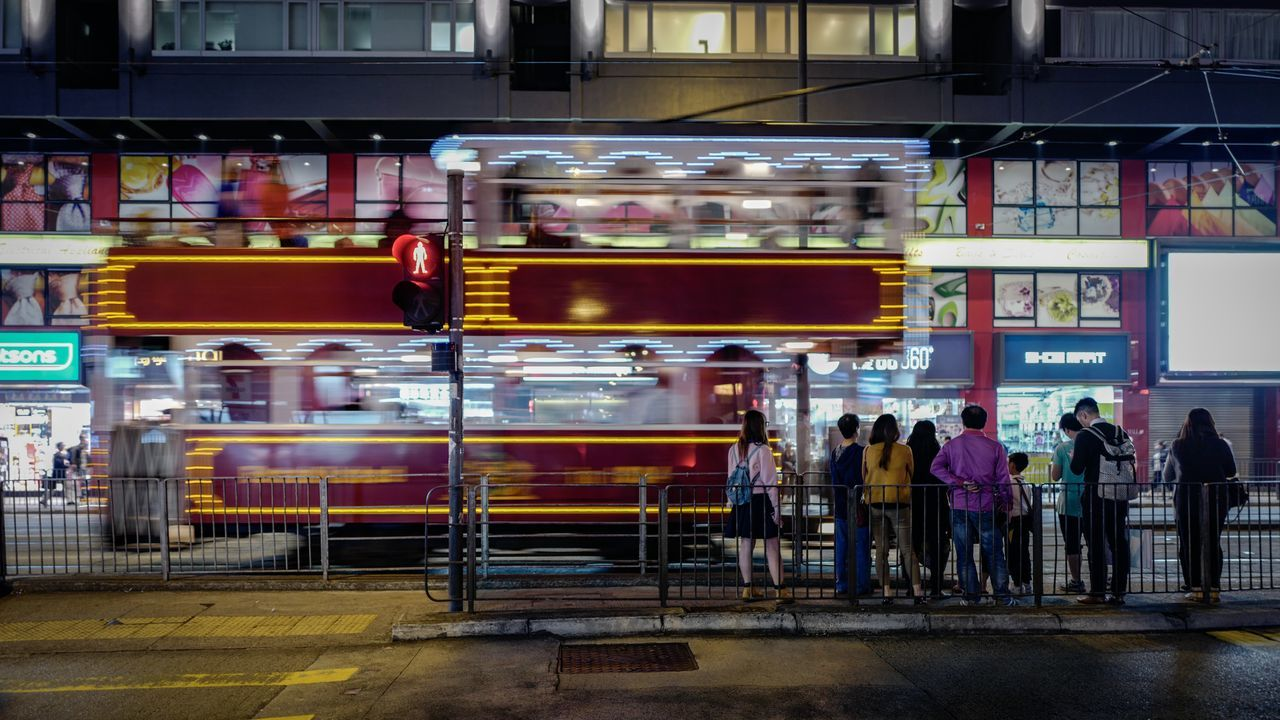 passing Tram Discoverhongkong Leicaq Street Photography Transportation Tram Illumination Urban Geometry Cityscapes Landscape Colour Of Life Walking Around Capture The Moment Taking Photos Life In Motion Hello World Found On The Roll Captured Moment Exploring Style From My Point Of View Urban Exploration EyeEm Gallery EyeEm Best Edits Still Life My Year My View Summilux