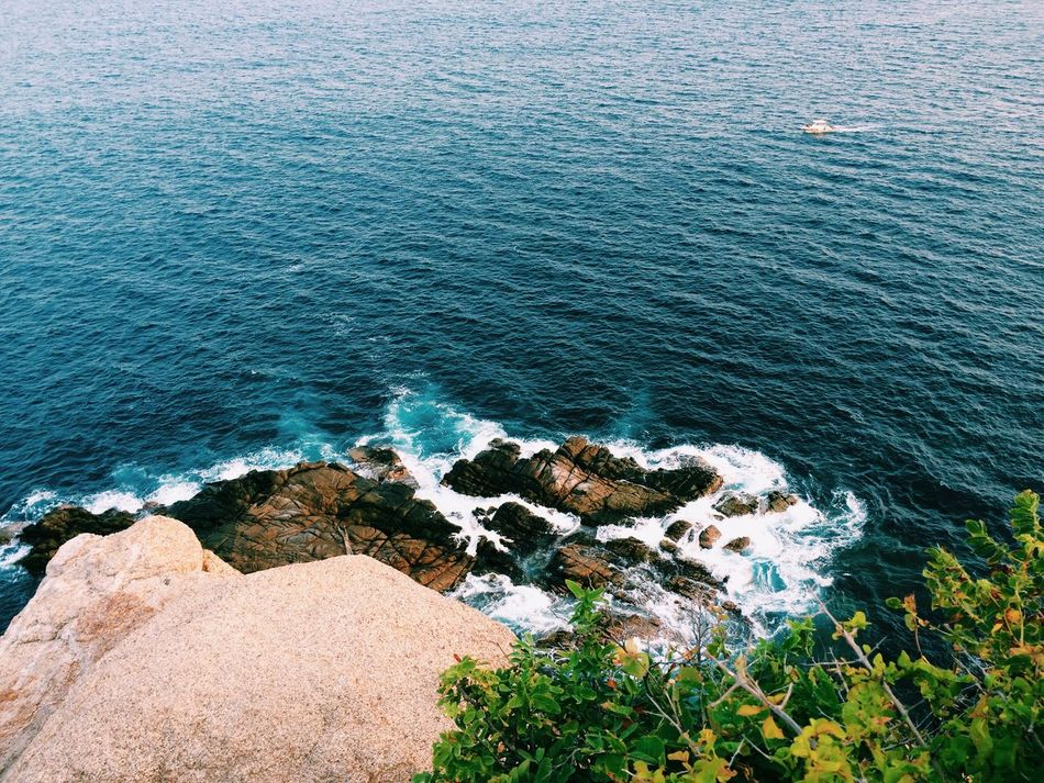 Beauty In Nature Blue Coastline Day High Angle View Idyllic Nature No People Rock - Object Scenics Sea Sunlight Tranquil Scene Tranquility EyeEm Best Shots VSCO VSCO Cam Vscogood