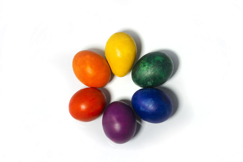 Close-up Color Colors Day Easter Easter Egg Egg Eggs Estar Food Gay Holiday Indoors  Multi Colored No People Reinbow Reinbow Colors Studio Shot White Background