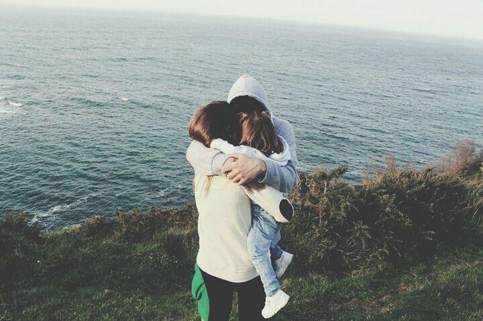 Hug Family Chilling Love