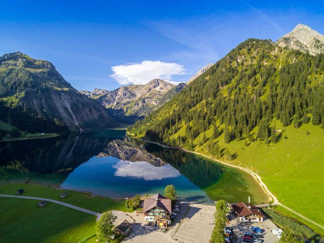 Flying High Tirol  Vilsalpsee Lake Mountain Reflection