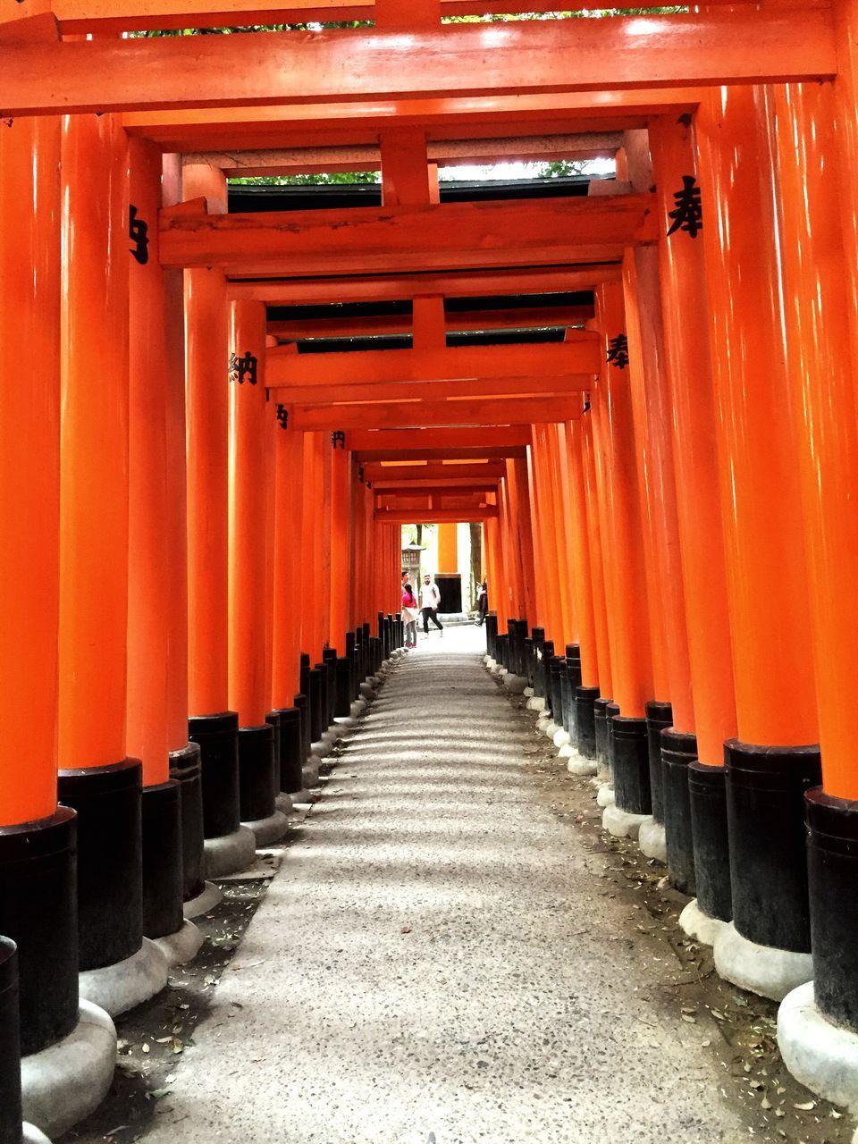 Columns At The Shinto Shrine