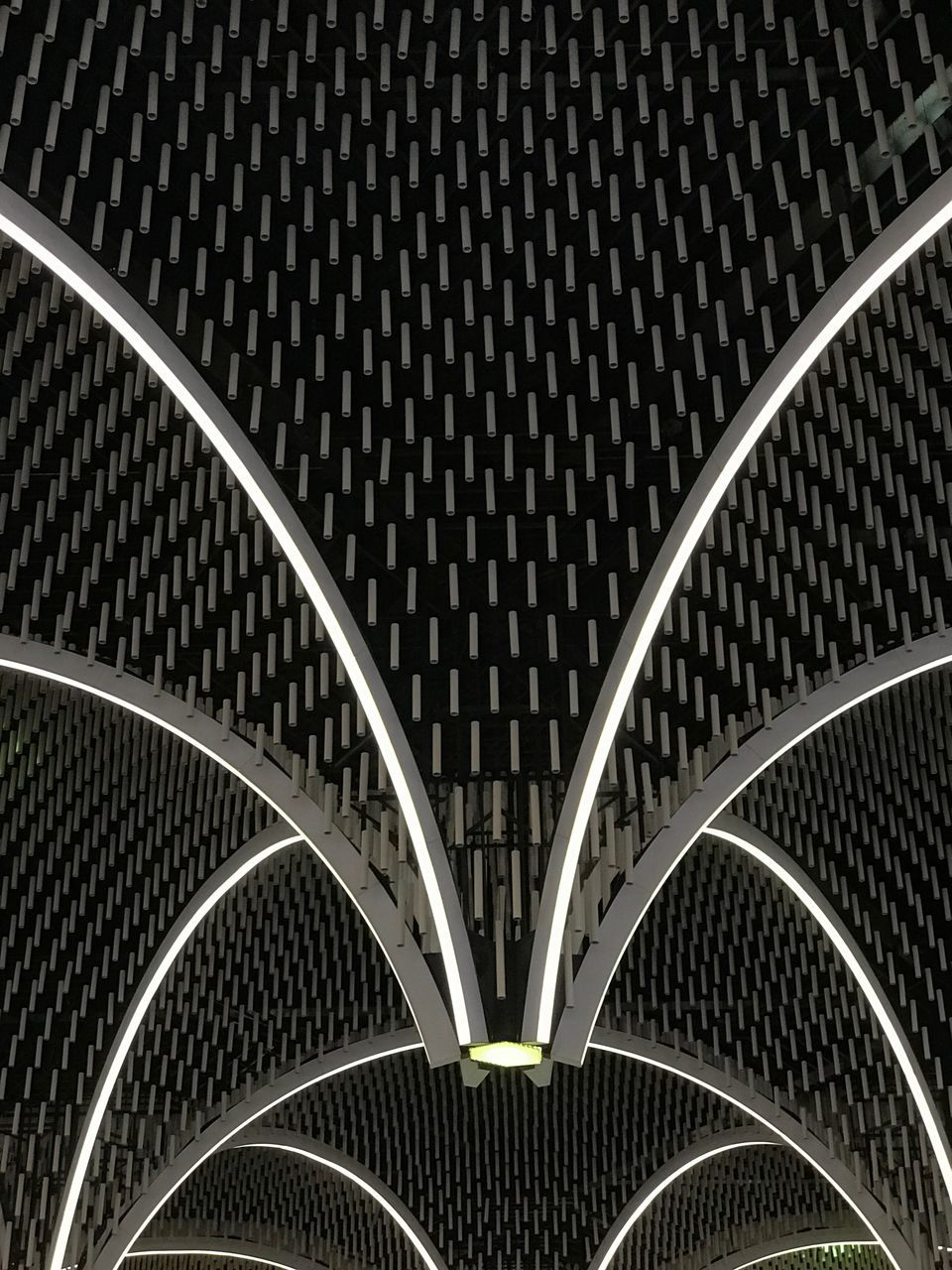 architecture, arch, built structure, indoors, abstract, illuminated, pattern, modern, curve, backgrounds, semi-circle, no people, futuristic, day