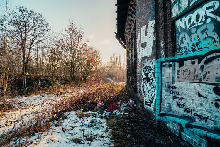 Abandoned Abandoned Buildings Abandones Places Architecture Day Deserted Deserted Places Frightening Graffiti Loneliness Lost Places No People Outdoors Road Sky