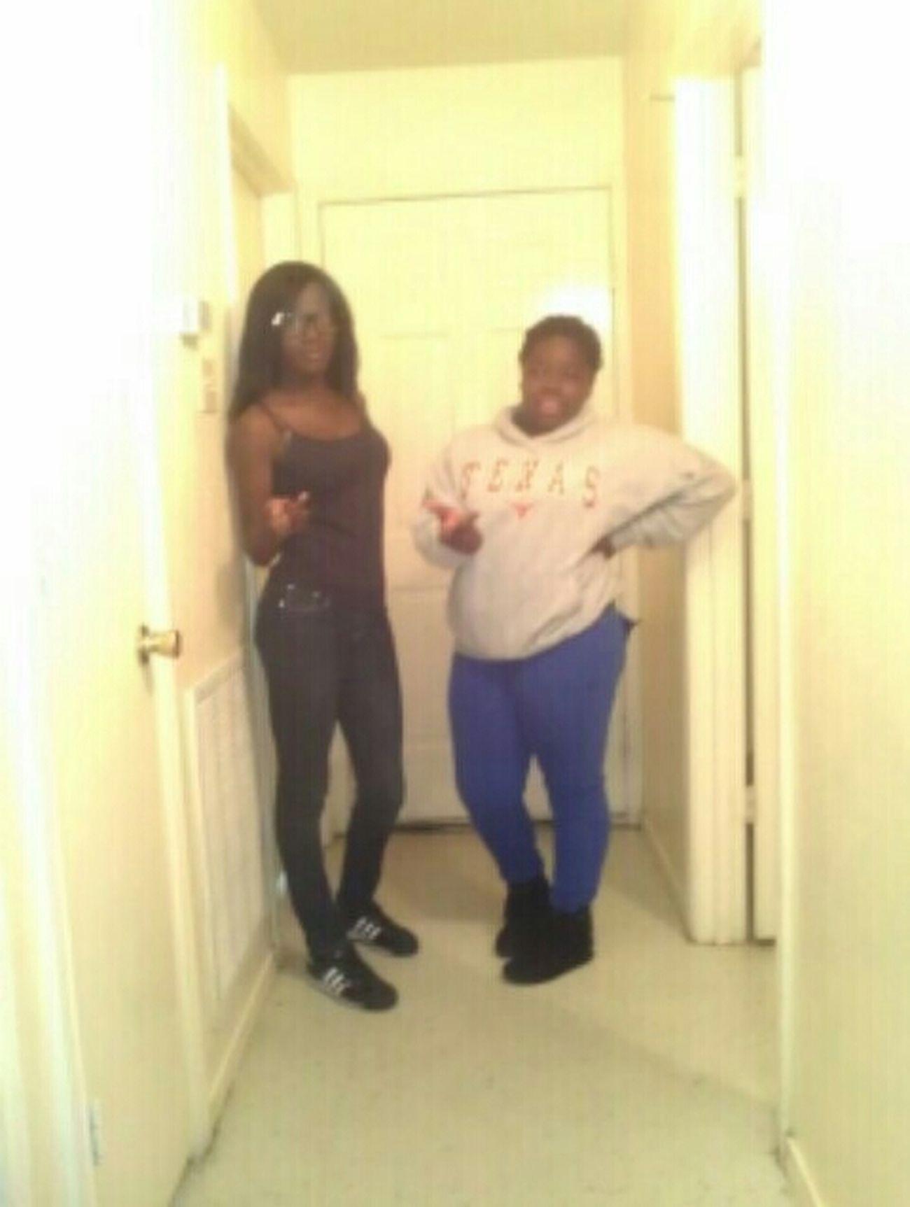 me and mii lil niqqa im in da black and she in da bluee