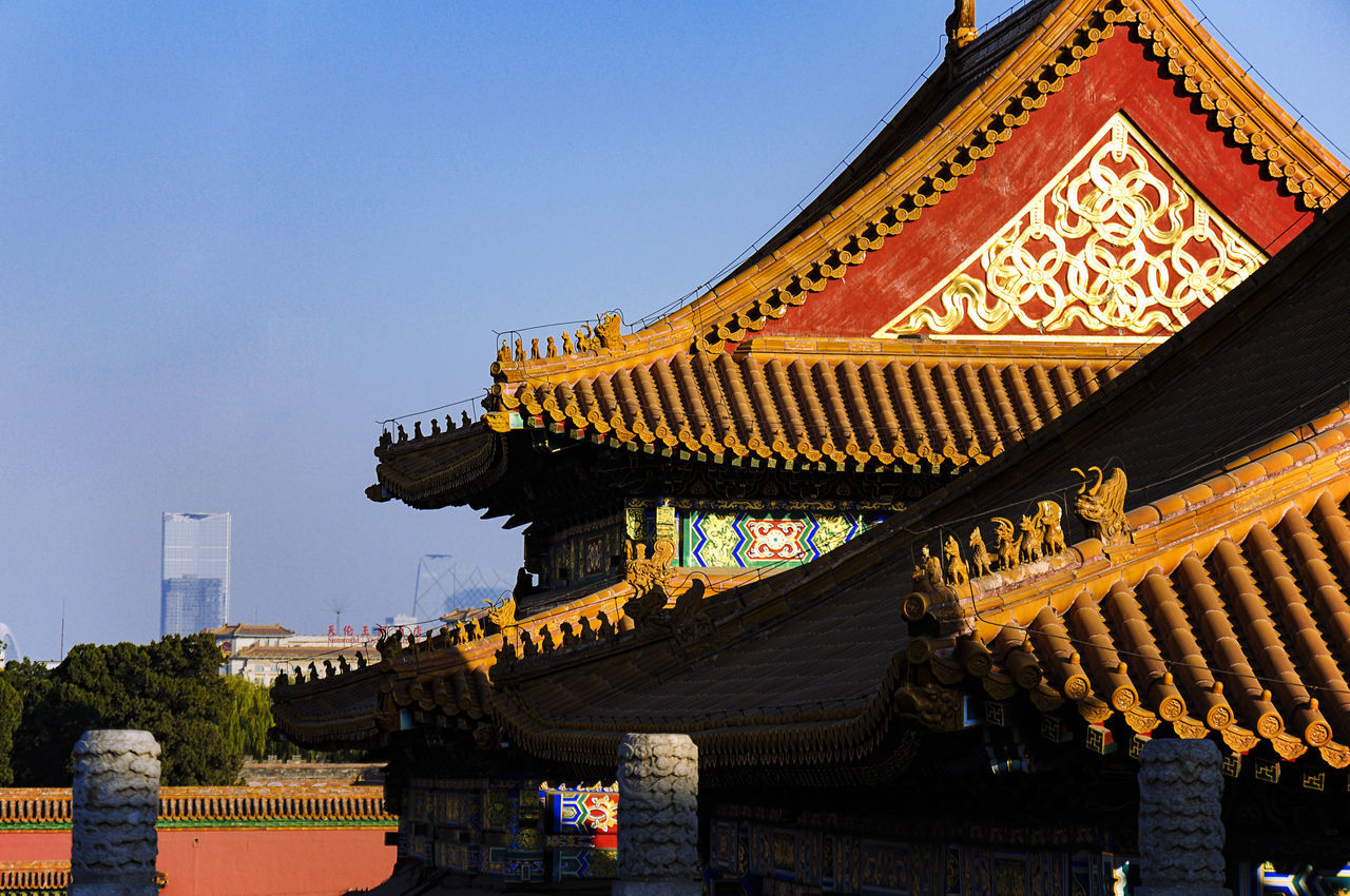 Beijing, China Forbidden City Imperial Palace Architecture Bei Joep In Bergen Aan Zee Blue Building Building Exterior Buildings & Sky Built Structure Clear Sky Day Forbidden City, Beijing, China Low Angle View No People Outdoors Roof Sky Travel Destinations