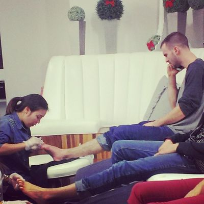 Sometimes Guys get Pedicures  and it's TotallyNormal Men shouldn't be embarrassed pampered gotcha chique fresh noshame you know you loveit toes