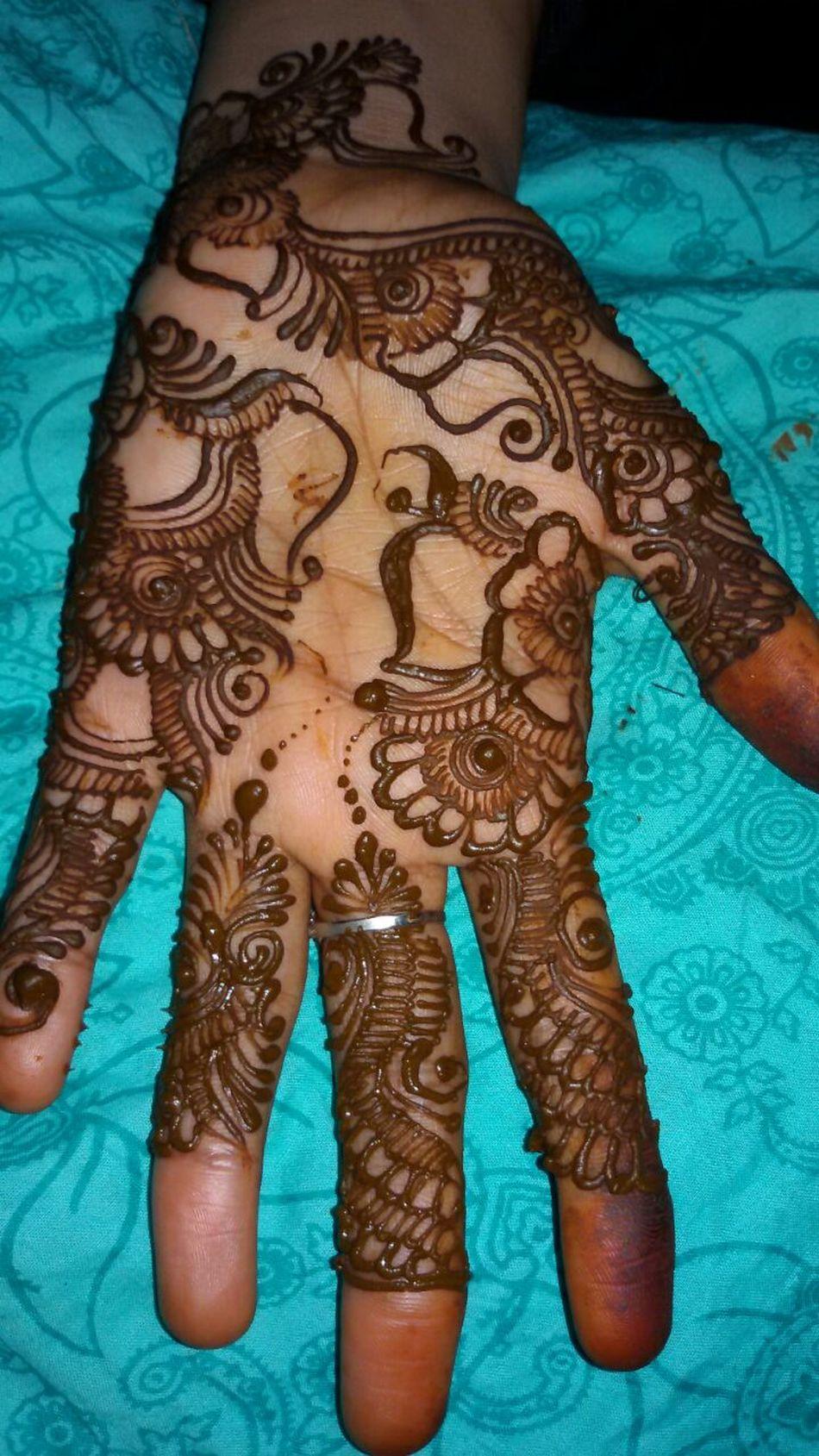 Henna Tattoo Henna Tattoo ❤ Design Close-up Human Body Part Human Hand Art And Craft Creativity Art High Angle View Parasngupta_photography