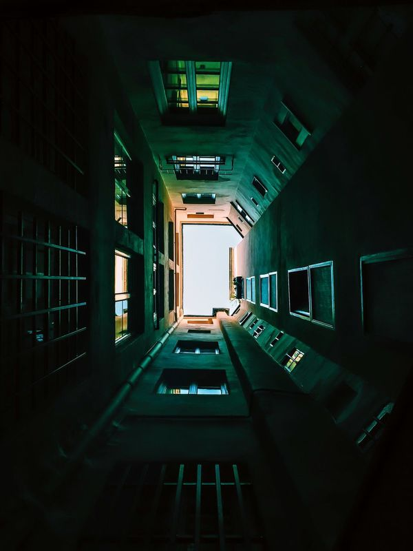 Square building up sight. Architecture Building Lyon Perspective Up Market Bestsellers October 2016 The Architect - 2017 EyeEm Awards
