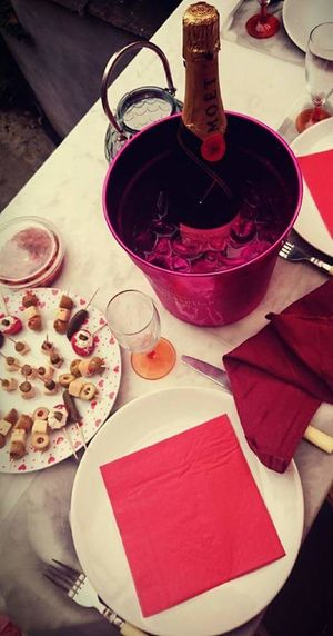 High Angle View Red Freshness No People Moet & Chandon Moet Champagne