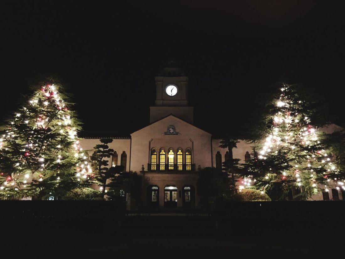 Kwansei Gakuin クリスマスツリー 時計台 イルミネーション 🎄🎄🎅🏼☄☄