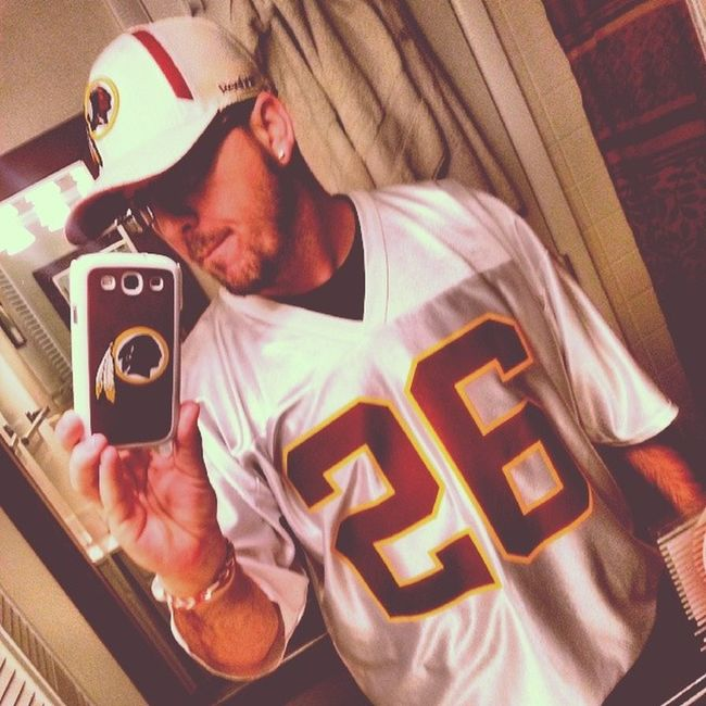 That's right I'm still rocking it, I don't care about your team Redskins Httrs NFCEast ClintonPortis Beast 775 Doenme Football BooM !