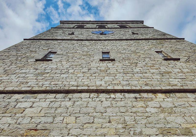 Architecture Low Angle View Building Exterior Cloud - Sky Outdoors Clock Tower Travel Destinations Han Sur Lesse