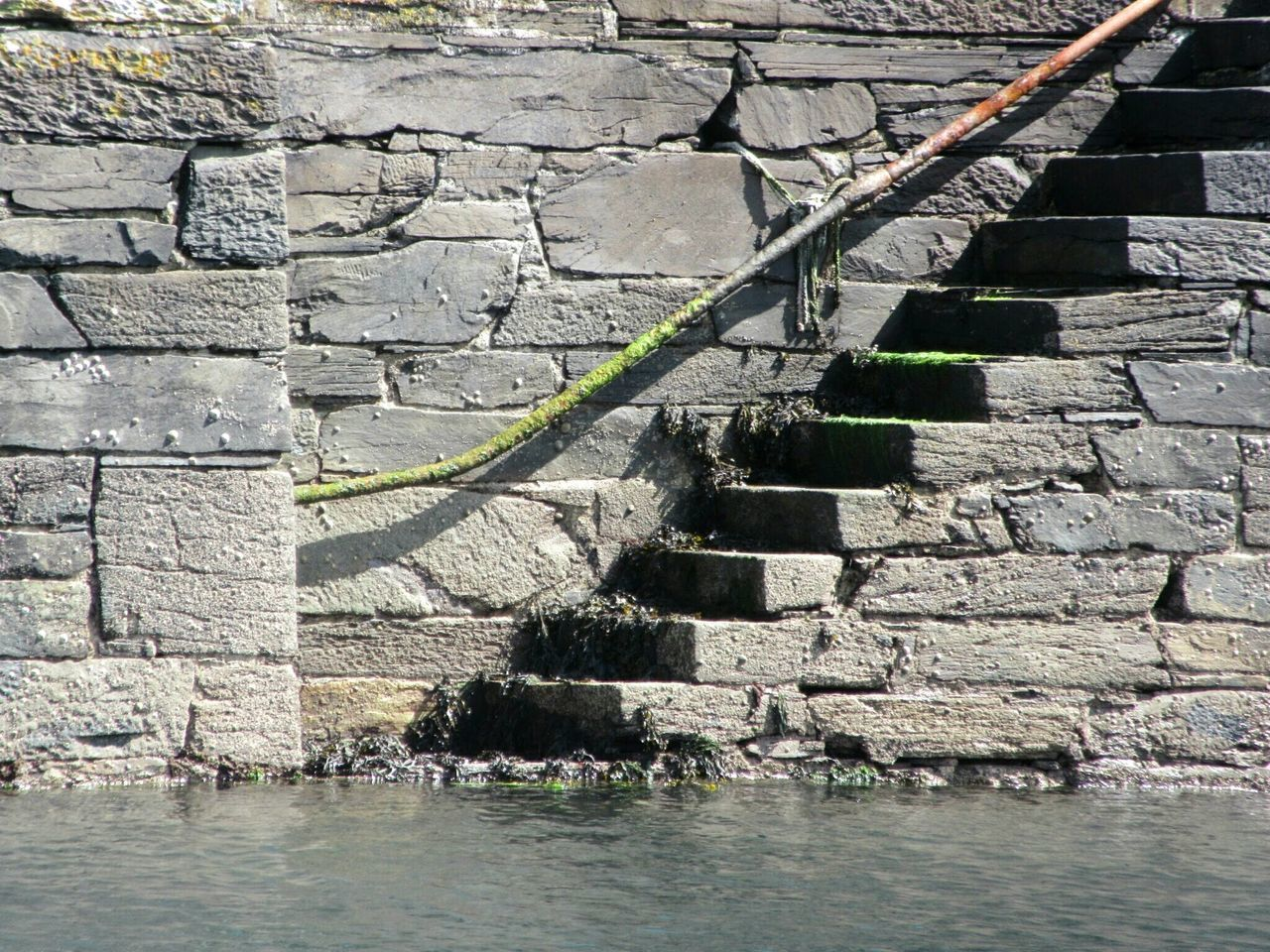 Quayside steps Quayside Quaywall Quay Steps Stone Wall Seaweed Barnicles Limpet Low Tide Cape Clear Island Roaringwater Bay West Cork Wildatlanticway Ireland