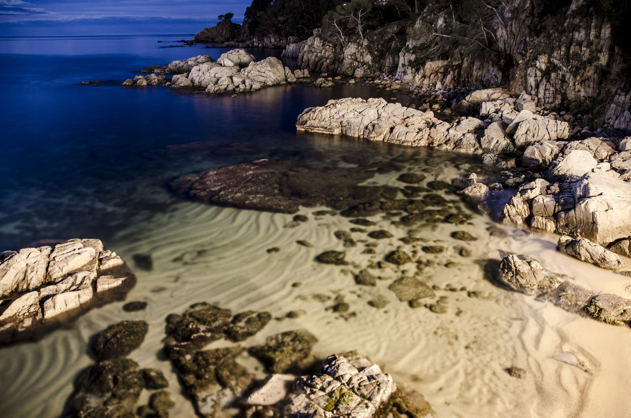 Calella de Palafrugell at night Beauty In Nature Long Exposure Mediterranean  Moonlight Nature Night No People Outdoors Scenics Sea Sky Tranquil Scene Tranquility Tranquility Water