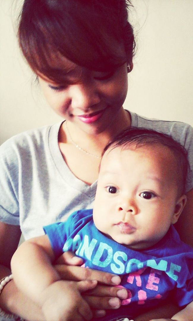 Practice! Haha. Joke. I'm with a cute baby. ♡ Jzan
