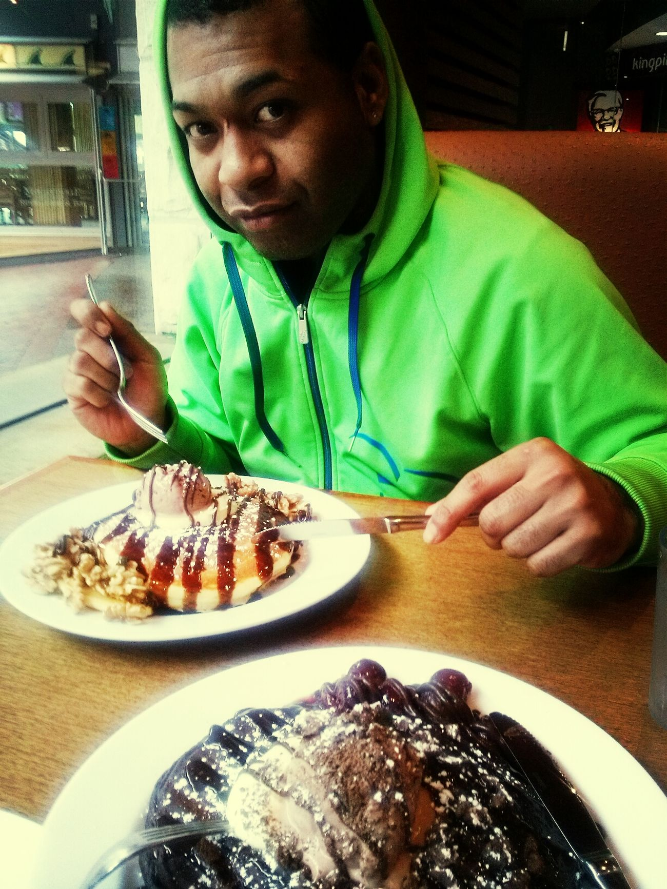 After work indulge on Pancakes Banana w/Chocolate Pancakes Pancakes Sydney Australia Indulge Me
