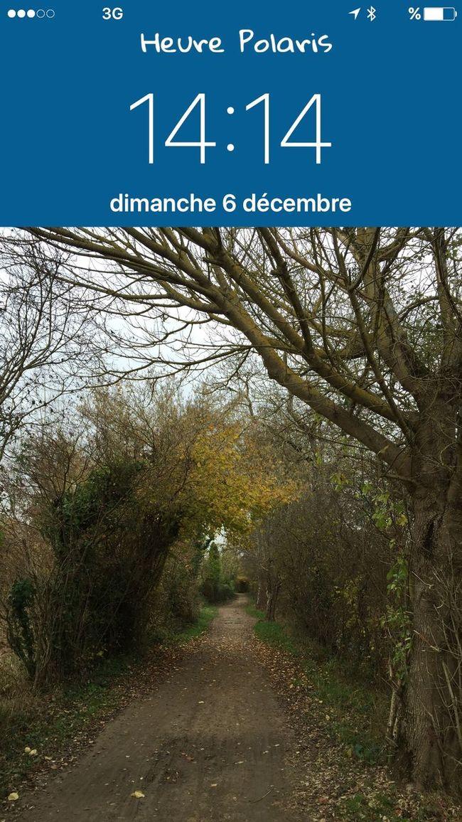 14H14 de retour de balade HEURE POLARIS Hour Heure Clock Time 6 Décembre Balade En Balade Sur Le Chemin Sur Les Chemins