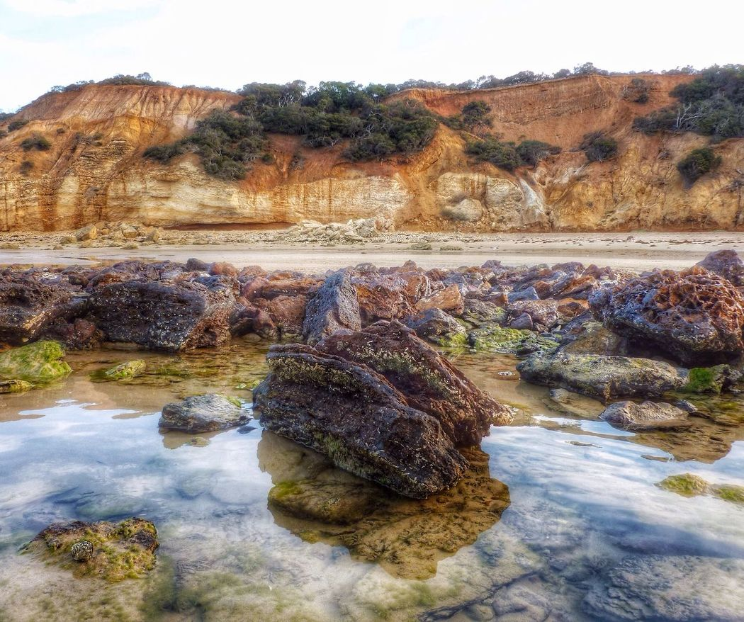 The KIOMI Collection Point Addis Australian Landscape Australia Low Angle Reflections Ripples Beautiful Place Landscape Landscape_Collection Eye4photography  EyeEm Scenery Rock Pool Beach Beautiful Nature Colours Of Nature EyeEm Best Shots Nature_collection Surf Coast Victoria Showcase April Cliffs Sea Shore Outside