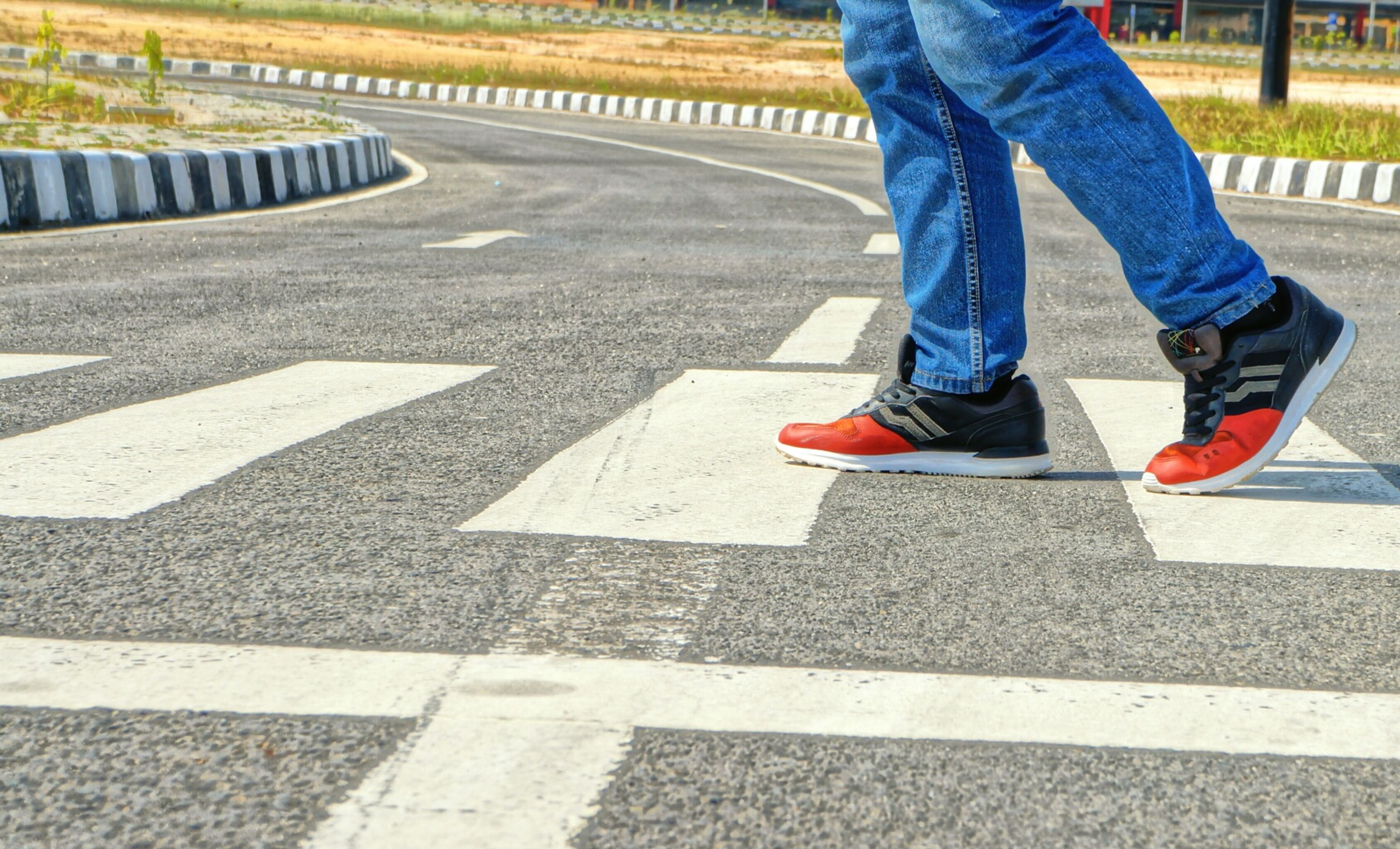 I feel save when walk in zebra cross Barefoot Vacation Time Airport