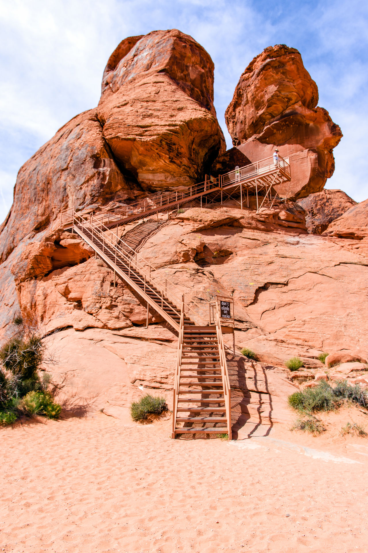 Day Desert Nature No People Outdoors Rock - Object Sandstone Cliffs Sky Staircase