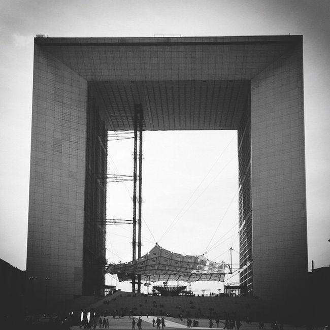 La Grande Arche Paris La Defense Building Monochrome EyeEm Best Shots