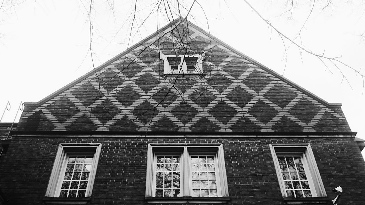 Architecture Historical Building Brick Brick Building Portland North Portland Library My Neighborhood Black And White Monochrome Texture Pattern, Texture, Shape And Form Pattern High Contrast Urban Geometry Urban Perspectives Urban Symmetrical Symmetry Rule Of Thirds