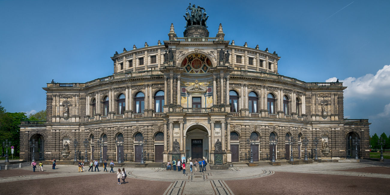 Semperoper Dresden Architecture City Cultures Day Façade History Large Group Of People Monument Operahouse Outdoors People Semperoper Sky Statue Tourism Tourist Travel Travel Destinations