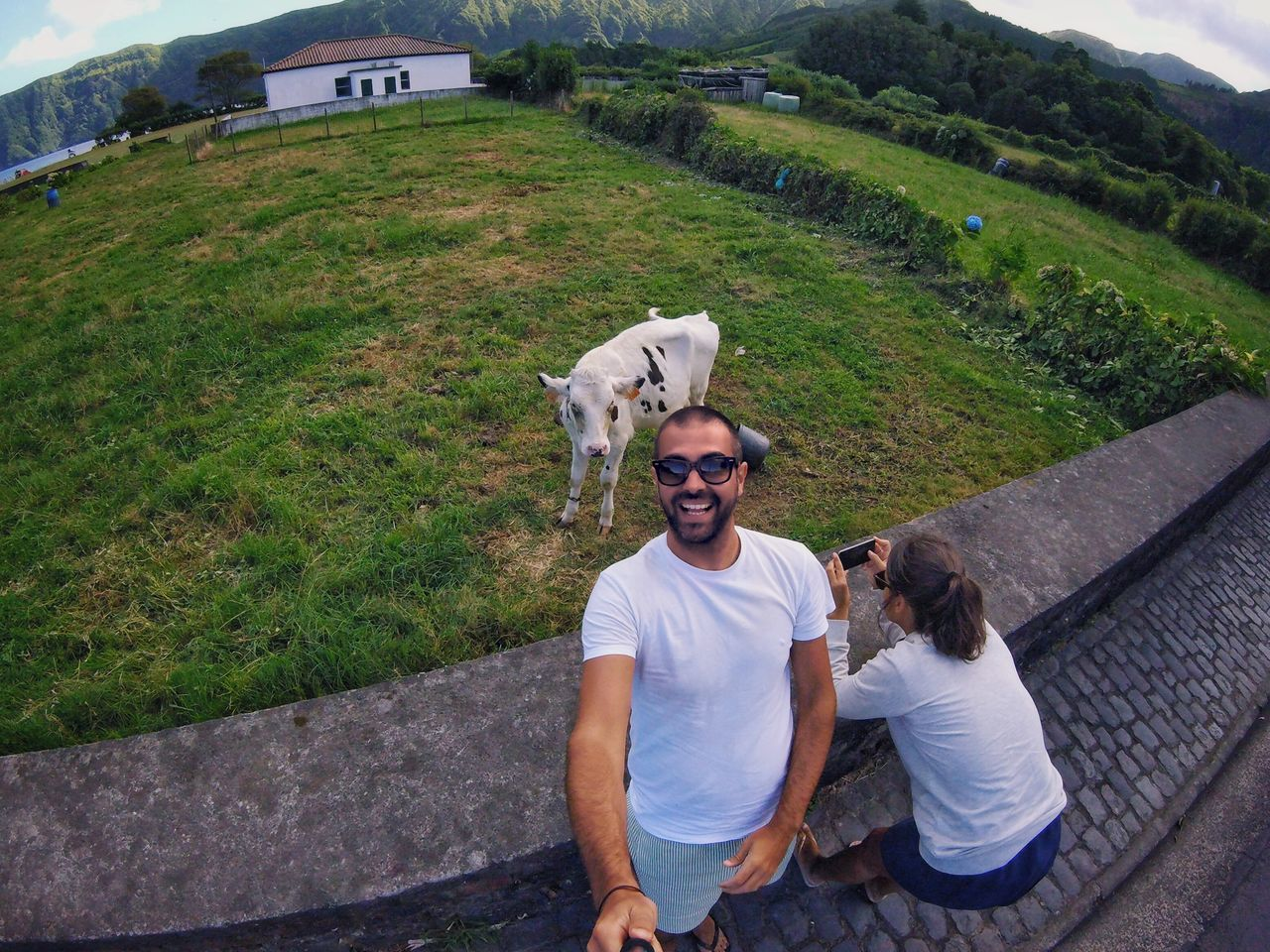 Looking At Camera Portrait Togetherness Pets Dog Happiness Mammal Real People Domestic Animals Outdoors Friendship Men Smiling People Adult Nature Day Adults Only Azores Selfie ✌ ThatsMe Gopro