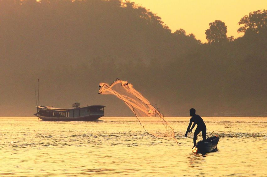 Fisherman in Luang Prabang Laos The Traveler - 2015 EyeEm Awards