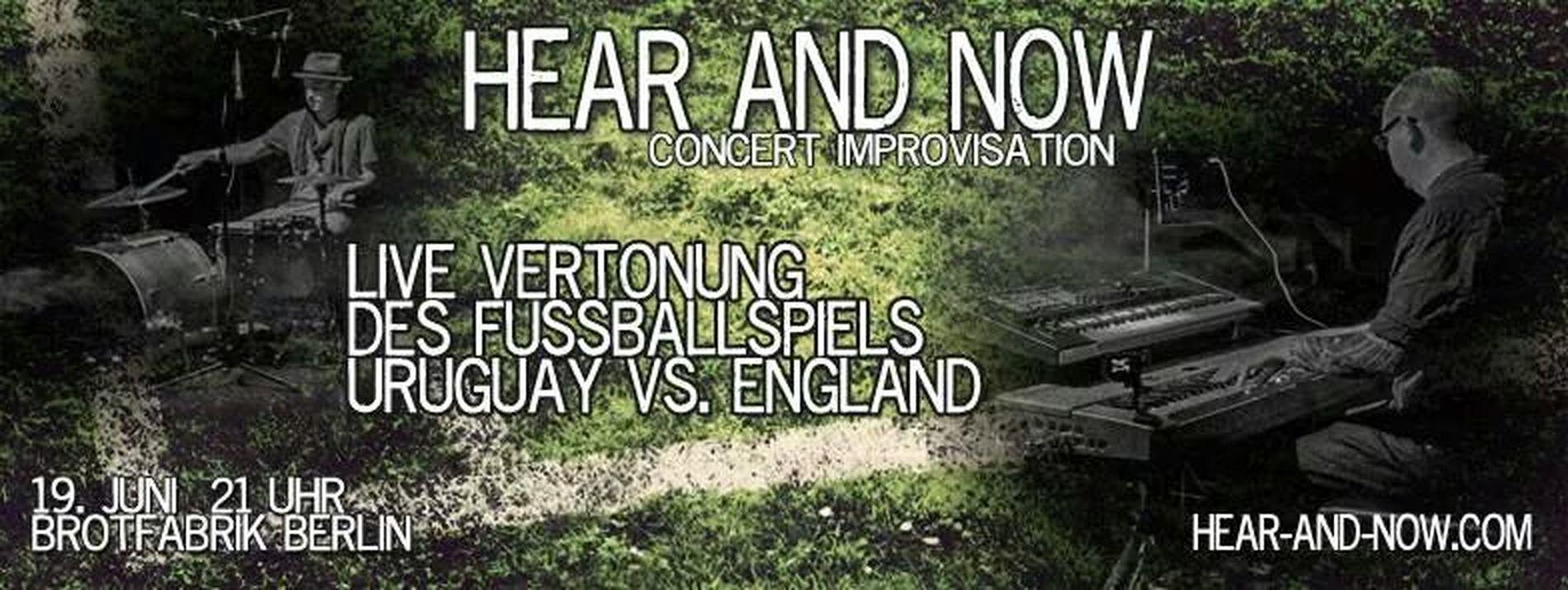 Tonight 9pm @Brotfabrik Berlin. Live Improv Soundtrack Uruguay vs England Concert Berlin Wm2014
