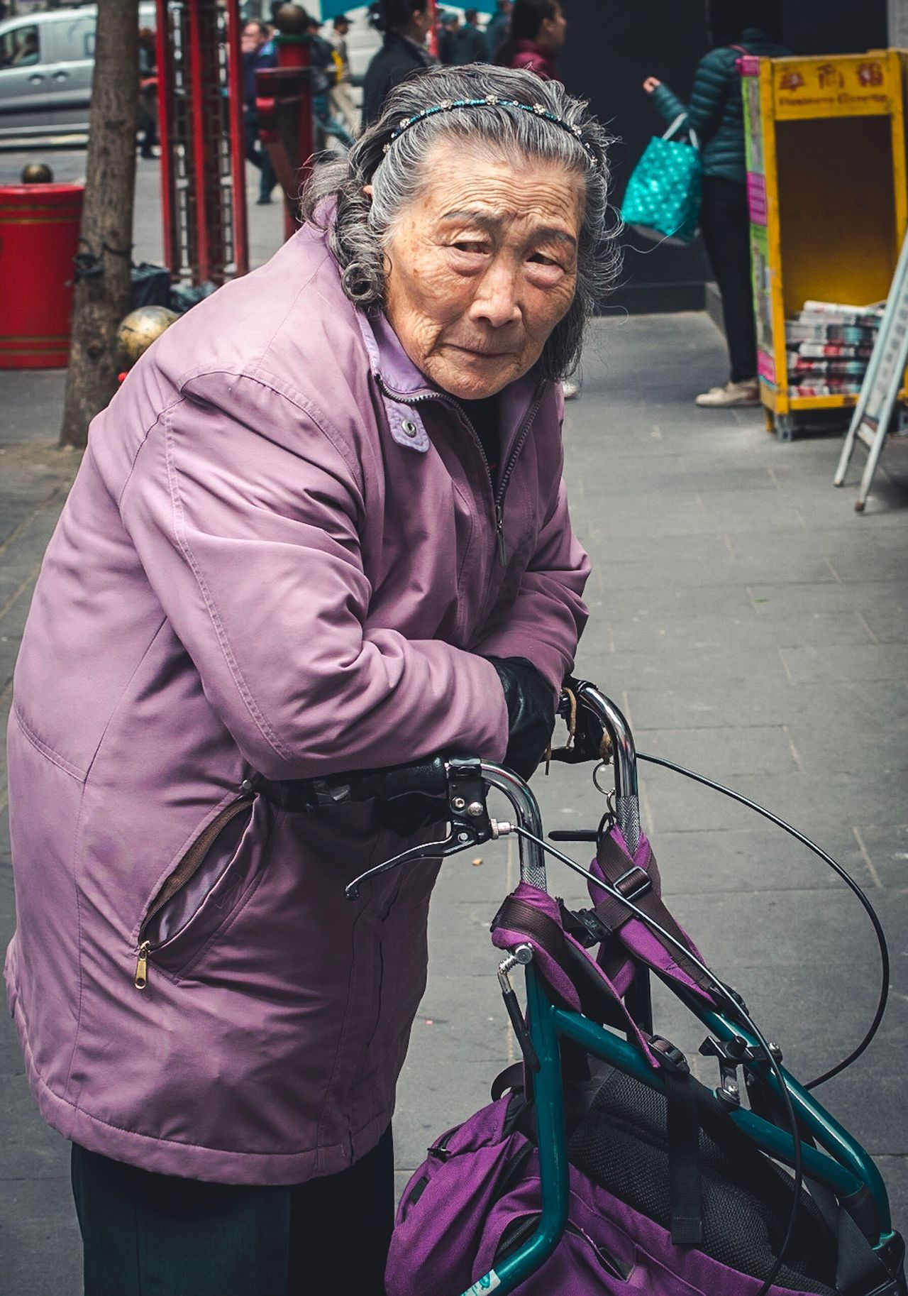 The Street Photographer - 2017 EyeEm Awards Resting London Chinatown Senior Adult Senior Women Real People One Person Walking Outdoors One Senior Woman Only Women Lifestyles Standing One Woman Only Streetphotography Street Photography People