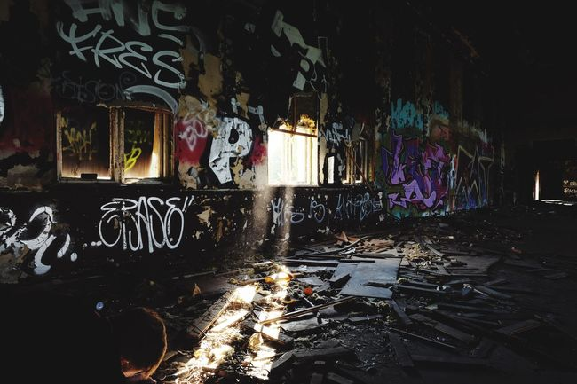 Graffiti Messy Indoors  Abandoned Places EyeEm Factory Adventure Factory