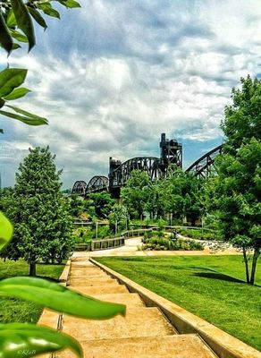 Clinton Presidential Park at Little Rock, AR by Keely Burgess