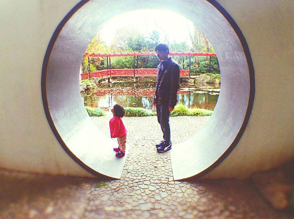 Modern Father Ipadphotography EEA3 EEA3_CambridgeNZ Hamiltongardens Hamilton Gardens The Global EyeEm Adventure Waikato Father And Daughter Chinese Garden
