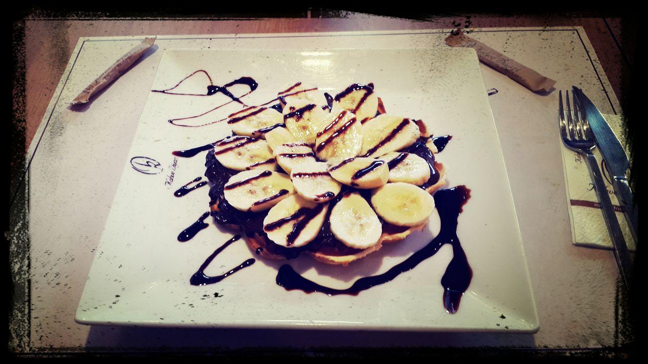 Waffle(çikolataya verilen muazzam muz tadı)